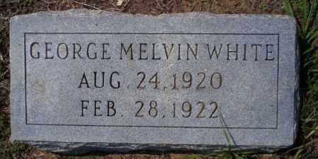 WHITE, GEORGE MELVIN - Columbia County, Arkansas   GEORGE MELVIN WHITE - Arkansas Gravestone Photos