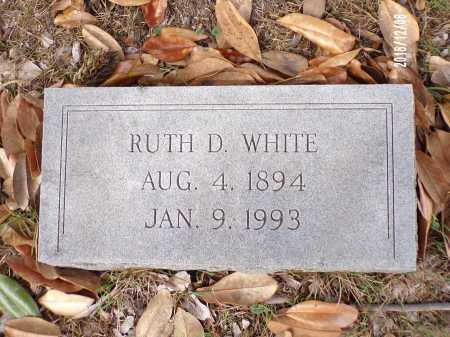 DAVIS WHITE, RUTH - Columbia County, Arkansas   RUTH DAVIS WHITE - Arkansas Gravestone Photos