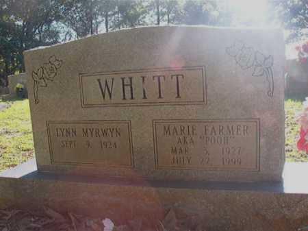 FARMER WHITT, MARIE - Columbia County, Arkansas | MARIE FARMER WHITT - Arkansas Gravestone Photos
