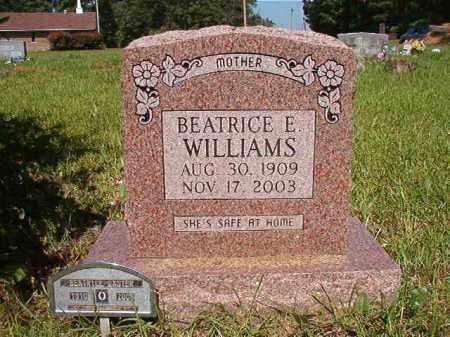 WILLIAMS, BEATRICE E - Columbia County, Arkansas   BEATRICE E WILLIAMS - Arkansas Gravestone Photos
