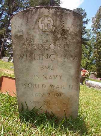 WILLINGHAM (VETERAN WWII), MEDFORD - Columbia County, Arkansas   MEDFORD WILLINGHAM (VETERAN WWII) - Arkansas Gravestone Photos