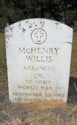 WILLIS (VETERAN WWII), MCHENRY - Columbia County, Arkansas | MCHENRY WILLIS (VETERAN WWII) - Arkansas Gravestone Photos