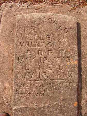 WILLSON, WELLS W - Columbia County, Arkansas   WELLS W WILLSON - Arkansas Gravestone Photos