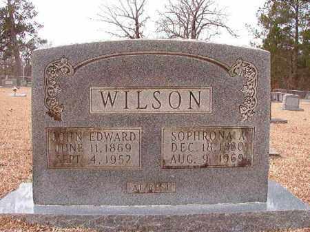 WILSON, SOPHRONA A - Columbia County, Arkansas | SOPHRONA A WILSON - Arkansas Gravestone Photos