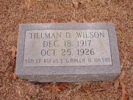 WILSON, TILLMAN D - Columbia County, Arkansas   TILLMAN D WILSON - Arkansas Gravestone Photos