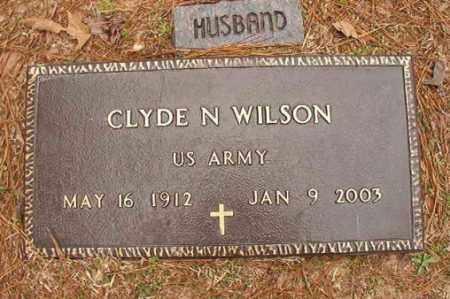 WILSON (VETERAN), CLYDE N - Columbia County, Arkansas   CLYDE N WILSON (VETERAN) - Arkansas Gravestone Photos