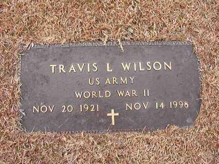 WILSON (VETERAN WWII), TRAVIS L - Columbia County, Arkansas | TRAVIS L WILSON (VETERAN WWII) - Arkansas Gravestone Photos