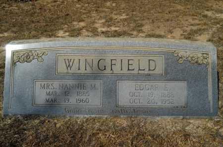 WINGFIELD, NANNIE M - Columbia County, Arkansas | NANNIE M WINGFIELD - Arkansas Gravestone Photos