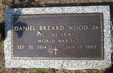 WOOD, JR (VETERAN WWII), DANIEL BREARD - Columbia County, Arkansas | DANIEL BREARD WOOD, JR (VETERAN WWII) - Arkansas Gravestone Photos
