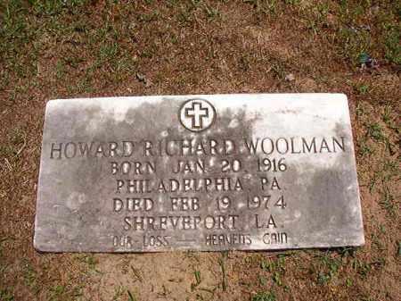 WOOLMAN, HOWARD RICHARD - Columbia County, Arkansas   HOWARD RICHARD WOOLMAN - Arkansas Gravestone Photos