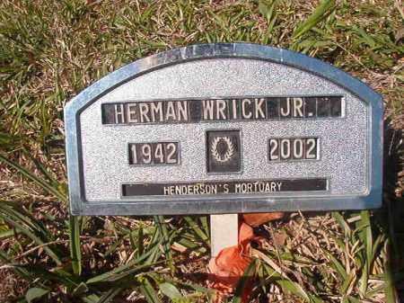 WRICK, JR, HERMAN - Columbia County, Arkansas | HERMAN WRICK, JR - Arkansas Gravestone Photos
