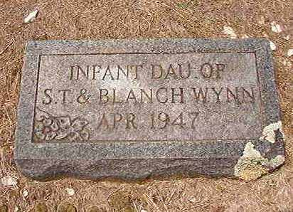 WYNN, INFANT DAUGHTER - Columbia County, Arkansas | INFANT DAUGHTER WYNN - Arkansas Gravestone Photos