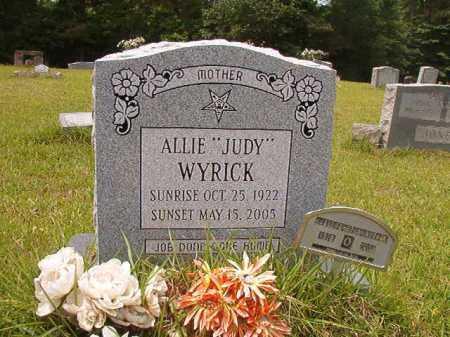 "WYRICK, ALLIE ""JUDY"" - Columbia County, Arkansas   ALLIE ""JUDY"" WYRICK - Arkansas Gravestone Photos"