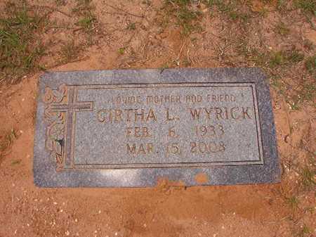 WYRICK, GIRTHA L - Columbia County, Arkansas | GIRTHA L WYRICK - Arkansas Gravestone Photos