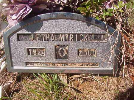 WYRICK, LETHA - Columbia County, Arkansas   LETHA WYRICK - Arkansas Gravestone Photos