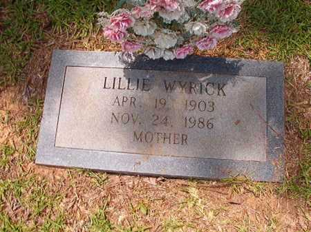 WYRICK, LILLIE - Columbia County, Arkansas | LILLIE WYRICK - Arkansas Gravestone Photos