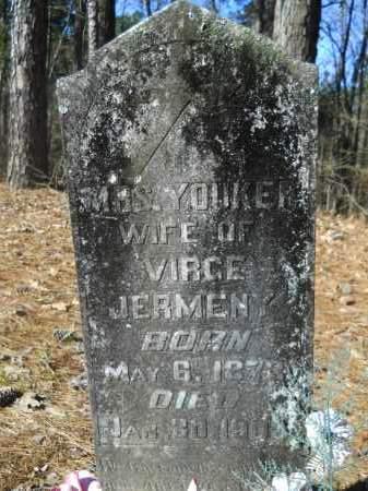 JERMENY, MRS, YOUKER - Columbia County, Arkansas | YOUKER JERMENY, MRS - Arkansas Gravestone Photos