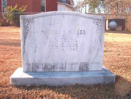 MILLER YOUNG, MARTHA E - Columbia County, Arkansas | MARTHA E MILLER YOUNG - Arkansas Gravestone Photos