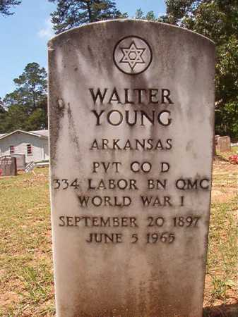YOUNG (VETERAN WWI), WALTER - Columbia County, Arkansas   WALTER YOUNG (VETERAN WWI) - Arkansas Gravestone Photos