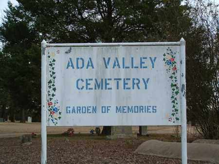 *ADA VALLEY CEMETERY SIGN,  - Conway County, Arkansas |  *ADA VALLEY CEMETERY SIGN - Arkansas Gravestone Photos