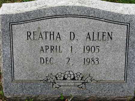 ALLEN, REATHA D - Conway County, Arkansas | REATHA D ALLEN - Arkansas Gravestone Photos