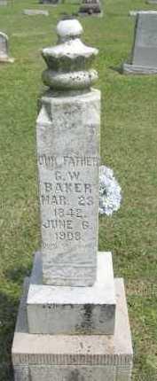 BAKER, GEORGE WASHINGTON - Conway County, Arkansas   GEORGE WASHINGTON BAKER - Arkansas Gravestone Photos