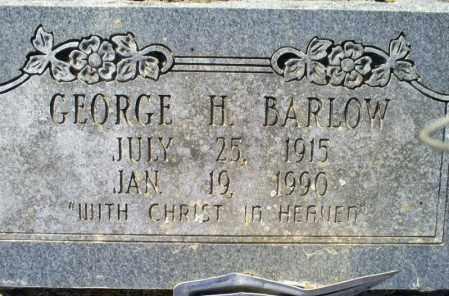 BARLOW, GEORGE H. - Conway County, Arkansas | GEORGE H. BARLOW - Arkansas Gravestone Photos