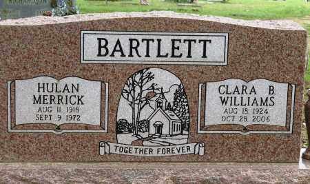 BARTLETT, HULAN MERRICK - Conway County, Arkansas | HULAN MERRICK BARTLETT - Arkansas Gravestone Photos