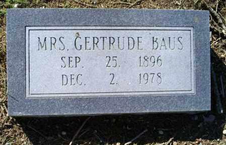 BAUS, GERTRUDE - Conway County, Arkansas | GERTRUDE BAUS - Arkansas Gravestone Photos