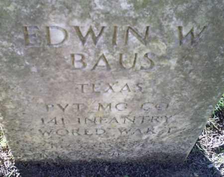 BAUS (VETERAN WWI), EDWIN W - Conway County, Arkansas | EDWIN W BAUS (VETERAN WWI) - Arkansas Gravestone Photos