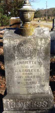 BAYLESS, HENRIETTA T. - Conway County, Arkansas | HENRIETTA T. BAYLESS - Arkansas Gravestone Photos