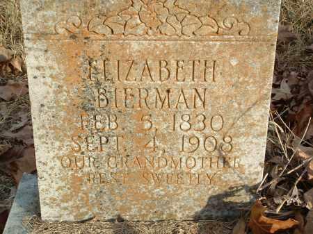 BIERMAN, ELIZABETH - Conway County, Arkansas | ELIZABETH BIERMAN - Arkansas Gravestone Photos