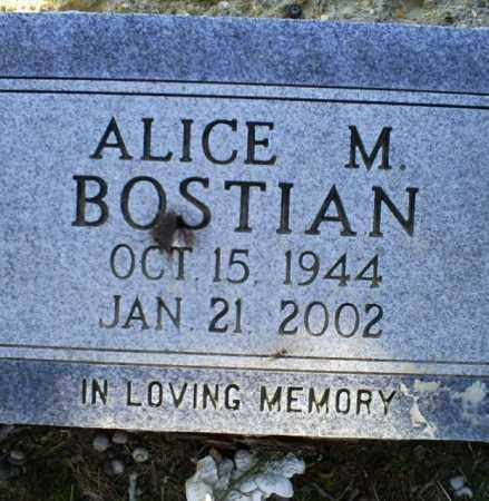 BOSTIAN, ALICE M. - Conway County, Arkansas | ALICE M. BOSTIAN - Arkansas Gravestone Photos