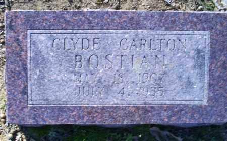 BOSTIAN, CLYDE CARLTON - Conway County, Arkansas | CLYDE CARLTON BOSTIAN - Arkansas Gravestone Photos