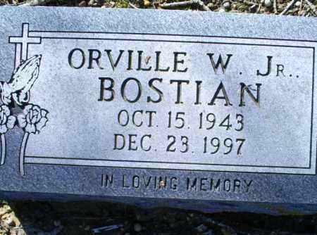 BOSTIAN, JR., ORVILLE  W. - Conway County, Arkansas | ORVILLE  W. BOSTIAN, JR. - Arkansas Gravestone Photos