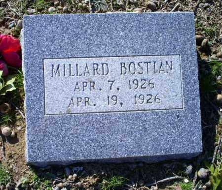 BOSTIAN, MILLARD - Conway County, Arkansas   MILLARD BOSTIAN - Arkansas Gravestone Photos