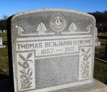 BOWDRE, THOMAS BENJAMIN - Conway County, Arkansas | THOMAS BENJAMIN BOWDRE - Arkansas Gravestone Photos