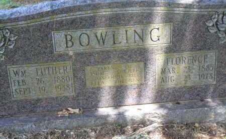 BOWLING, FLORENCE - Conway County, Arkansas | FLORENCE BOWLING - Arkansas Gravestone Photos