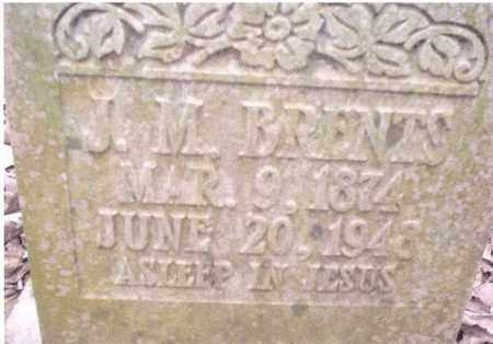 BRENTS, J. M. - Conway County, Arkansas   J. M. BRENTS - Arkansas Gravestone Photos