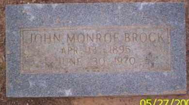 BROCK, JOHN MONROE - Conway County, Arkansas | JOHN MONROE BROCK - Arkansas Gravestone Photos