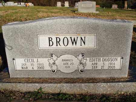 BROWN, EDITH - Conway County, Arkansas | EDITH BROWN - Arkansas Gravestone Photos