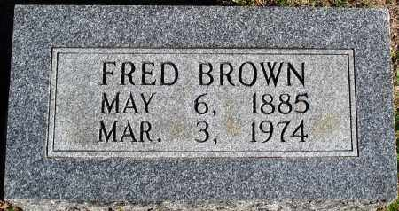 BROWN, FRED - Conway County, Arkansas | FRED BROWN - Arkansas Gravestone Photos