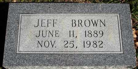 BROWN, JEFF - Conway County, Arkansas | JEFF BROWN - Arkansas Gravestone Photos