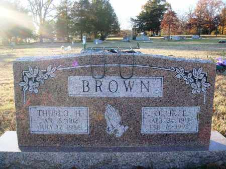 BROWN, THURLO H. - Conway County, Arkansas | THURLO H. BROWN - Arkansas Gravestone Photos