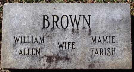 BROWN, WILLIAM ALLEN - Conway County, Arkansas | WILLIAM ALLEN BROWN - Arkansas Gravestone Photos
