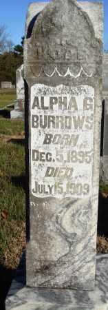BURROWS, ALPHA G - Conway County, Arkansas   ALPHA G BURROWS - Arkansas Gravestone Photos