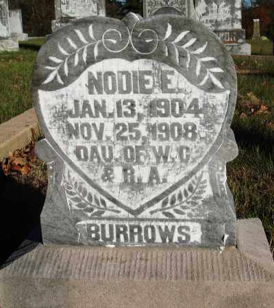 BURROWS, NODIE E - Conway County, Arkansas | NODIE E BURROWS - Arkansas Gravestone Photos