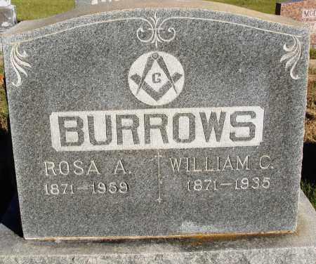 BURROWS, WILLIAM C. - Conway County, Arkansas   WILLIAM C. BURROWS - Arkansas Gravestone Photos