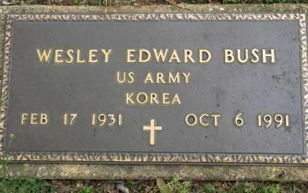 BUSH (VETERAN KOR), WESLEY EDWARD - Conway County, Arkansas | WESLEY EDWARD BUSH (VETERAN KOR) - Arkansas Gravestone Photos