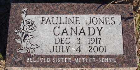 JONES CANADY, PAULINE - Conway County, Arkansas | PAULINE JONES CANADY - Arkansas Gravestone Photos